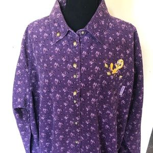 Looney Tunes Vintage Button-Up Shirt